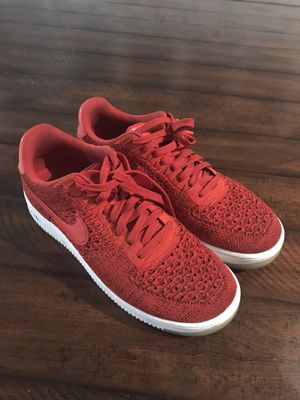 Nike Air Force 1 Low Flyknit (Red) Size Men's 10.5 for Sale in Windermere, FL