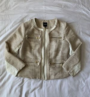 Off-White Faux Leather Detail Jacket for Sale in Pasco, WA