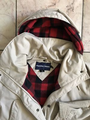 Vintage 80's Pacific Trail Plaid flannel Lined Hooded Parka Jacket for Sale in Alameda, CA