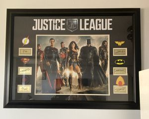 Original Justice League Framed Poster Signed by Cast for Sale in Lowell, MA
