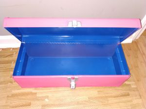 Pink Heavy Duty Metal Tool Box, one of a kind for Sale in Evansville, IN