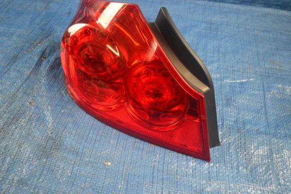 07-15 INFINITI G25 G35 G37 Q40 SEDAN LEFT TAIL LIGHT LAMP QUARTER MOUNTED #18853
