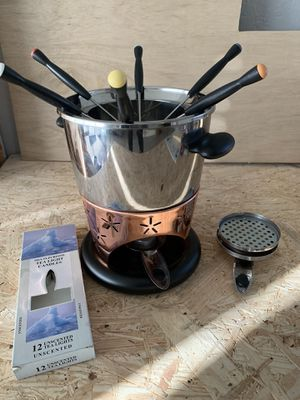Chrome and copper Fondu pot for Sale in Phoenix, AZ