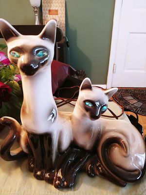 Vintage siamese cat lamp for Sale in Alexandria, VA