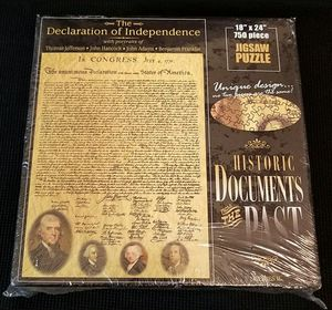 NEW! American Documents The Declaration of Independence 750 pc. Jigsaw Puzzle for Sale in Las Vegas, NV