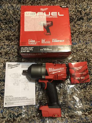 """MILWAUKEE M18 FUEL BRUSHLESS 1/2"""" HIGH TORQUE IMPACT WRENCH W/ FRICTION RING for Sale in San Antonio, TX"""