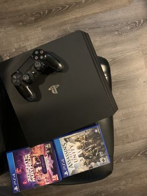 PS4 PRO [1TB] BUNDLE Sony PlayStation Bundle 3 Games Included for Sale in Cromwell, CT