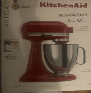 Artisan® Series 5 Quart Tilt-Head Stand Mixer, Empire Red for Sale in Kennedale, TX