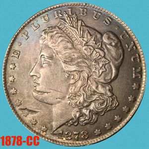 Rainbow Toned 1878 CC Carson City Morgan Silver Dollar • KEY DATE • UNCIRCULATED • for Sale in Yucca Valley, CA