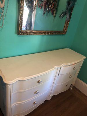 Vintage shabby chic white dresser for Sale in Oakland, CA