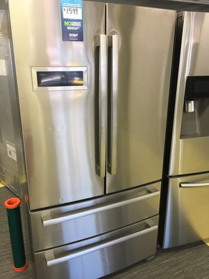 Bosch Refrigerator Scraches Dent Stainless Steel 4 Door Refrigerador No Credit Check Just $54 de Enganche You take home Today Cash Price $1,200 for Sale in Garland, TX