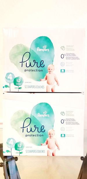 (2) Pampers Pure size 4 52ct for Sale in Alafaya, FL