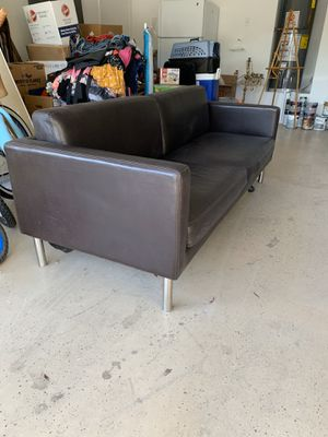Brown pleather couch for Sale in Gilbert, AZ