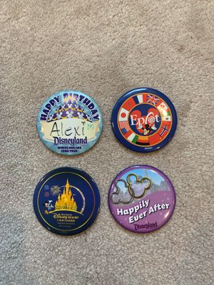 Disney Park button pins (Set of 4) for Sale in Kent, WA