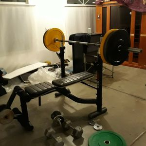 Mercy Pro Workout Bench With Adjustable Squad Bars Leg Ectention And Preacher Curl Just Bench For Sale No Bar Or Weights for Sale in Apple Valley, CA