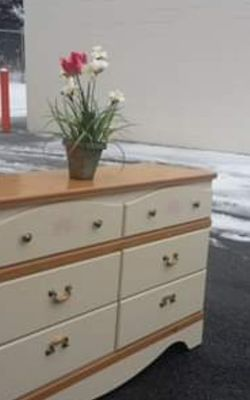BY ASHLEY MODERN DRESSER WITH BIG DRAWER DRAWER WORKING WELL GREAT CONDITION for Sale in Fairfax,  VA
