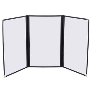"""Tri-Fold Clear Restaurant Menu Cover Legal Size Pages 8.5"""" x 14"""" (30 Pcs.) - Black for Sale in Chino Hills, CA"""
