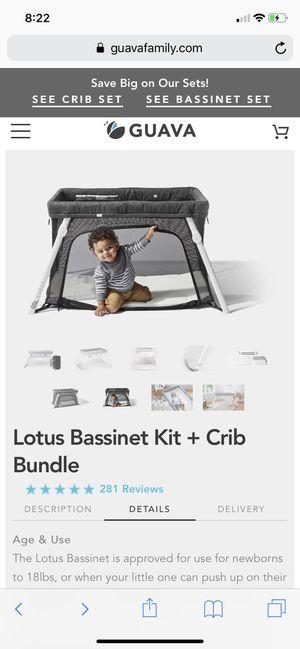Lotus Bassinet Kit + Crib Bundle for Sale in Huntington Beach, CA