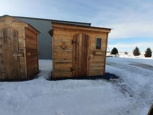 Brand New 4 x8 pallet wood shed for Sale in Princeton, MN