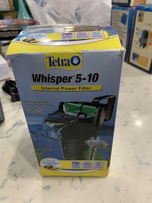 Tetra Whisper INTERNAL POWER FILTER 5-10 G Aquarium FISH REPTILES TURTLE Quiet for Sale in Long Beach, CA