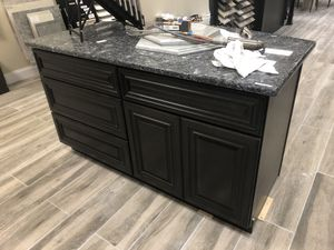"New 60"" kitchen island with granite top for Sale in Edgewater, MD"