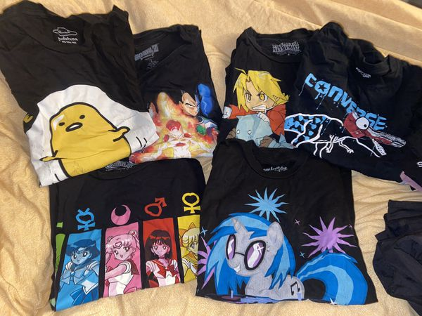 Sailor moon dragon ball z fullmetal alchemist my little pony shirt
