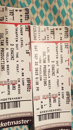 Two chains tickets for Sale in Silsbee, TX