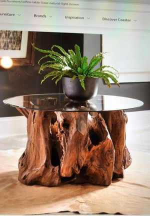Coffee table vase natural light brown by CoasterEssence for Sale in Torrance, CA
