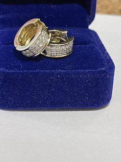 14k Gold Diamonds Earrings for Sale in Weymouth,  MA