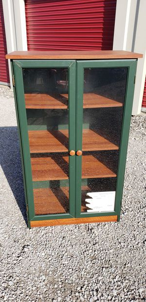 Modern Display Cabinet with Glass Doors (Green) for Sale in Lorain, OH