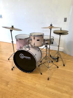 """Gammon lite pink jazz drum set 22"""" bass pearl cymbals complete kit drums throne hihat sticks & key FIRM !! $275 firm in Newport 92663 for Sale in Newport Beach, CA"""