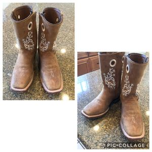 Little girl Cowboy leather boots for Sale in Albuquerque, NM