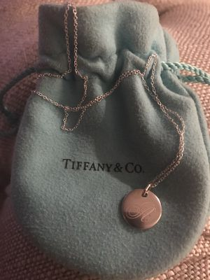 "Authentic Tiffany ""A"" charm on 24 inch silver chain for Sale in Nashville, TN"