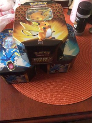 Pokemon hidden fates tins with 600 cards for Sale in Rancho Cucamonga, CA
