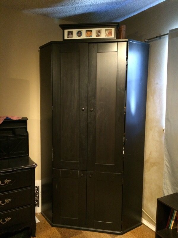 Black Corner Armoire From Ikea For Sale In San Jose Ca