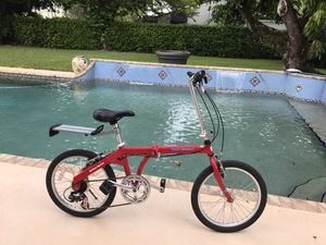"""2 identical """"Port Runner"""" 6 Speeds, Aluminum Folding Bike. New condition. $160 each. Plus 1 storage bag for ditto, $25. for Sale in Miami, FL"""