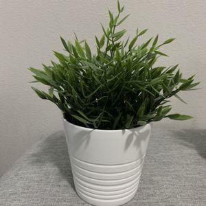 Fake Plant White Pot for Sale in Vancouver, WA