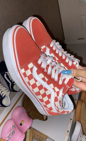 Red checkerboard vans for Sale in Seattle, WA