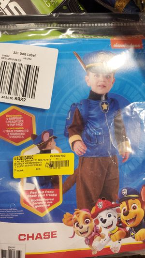Paw Patrol Chase toddler 3T 4T costume for Sale in Riverside, CA