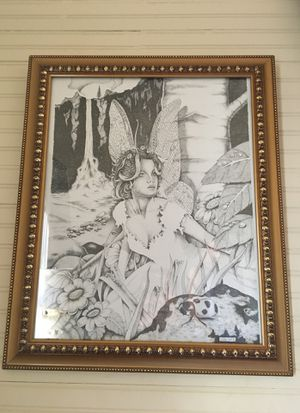Framed Fairie Drawing for Sale in Tampa, FL