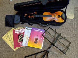 Violin (4/4) w/ accessories & books for Sale in Arlington, VA