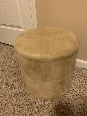 Beige Suede Foot rest stool for Sale in Atlanta, GA
