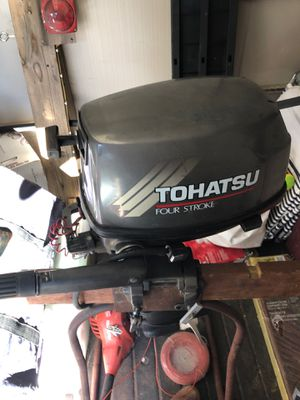 """6hp tohatsu 2004 outboard 15"""" short shaft for Sale in Valley Center, CA"""