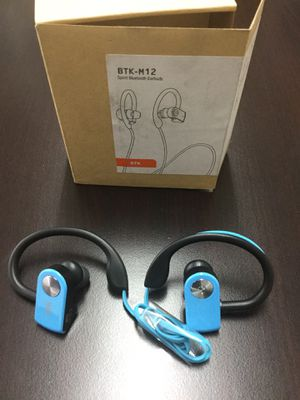 BTK-M12 Sport Bluetooth Earbuds headset for Sale in South El Monte, CA