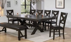 ELEGANT KELLY DINING TABLE, 6 CHAIRS AND A BENCH/ NO CREDIT CHECK FINANCING AVAILABLE for Sale in Clearwater, FL