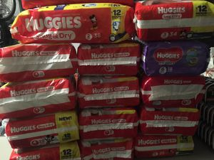 Huggies Diapers box or packs, pull ups, wipes and much more for Sale in Lehigh Acres, FL