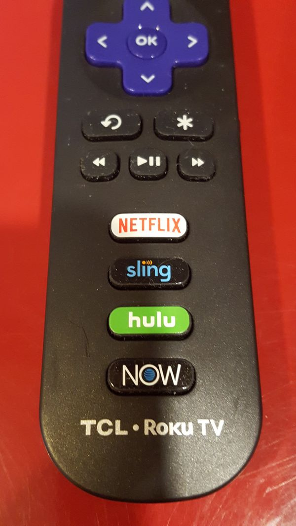 TCL ROKU TV Remote Control withNetflix Hulu NOW SlingKeys. New