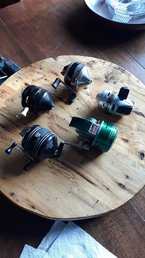 Lot of five vintage fishing reels for Sale in Houston, TX