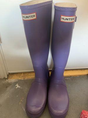 Hunter rain boots size 10 for Sale in San Antonio, TX