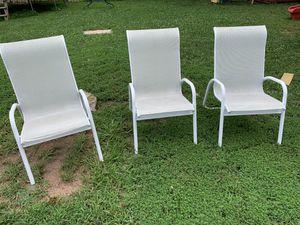 3 outdoor chairs for Sale in Alexandria, VA